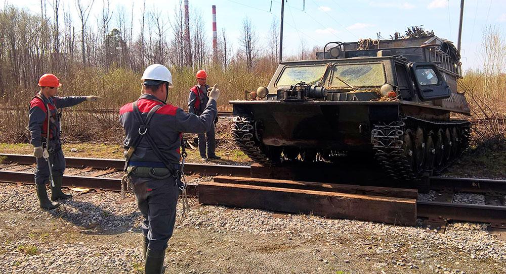 Монтаж линии связи в г.Тобольск по опорам ВЛ 110КВ